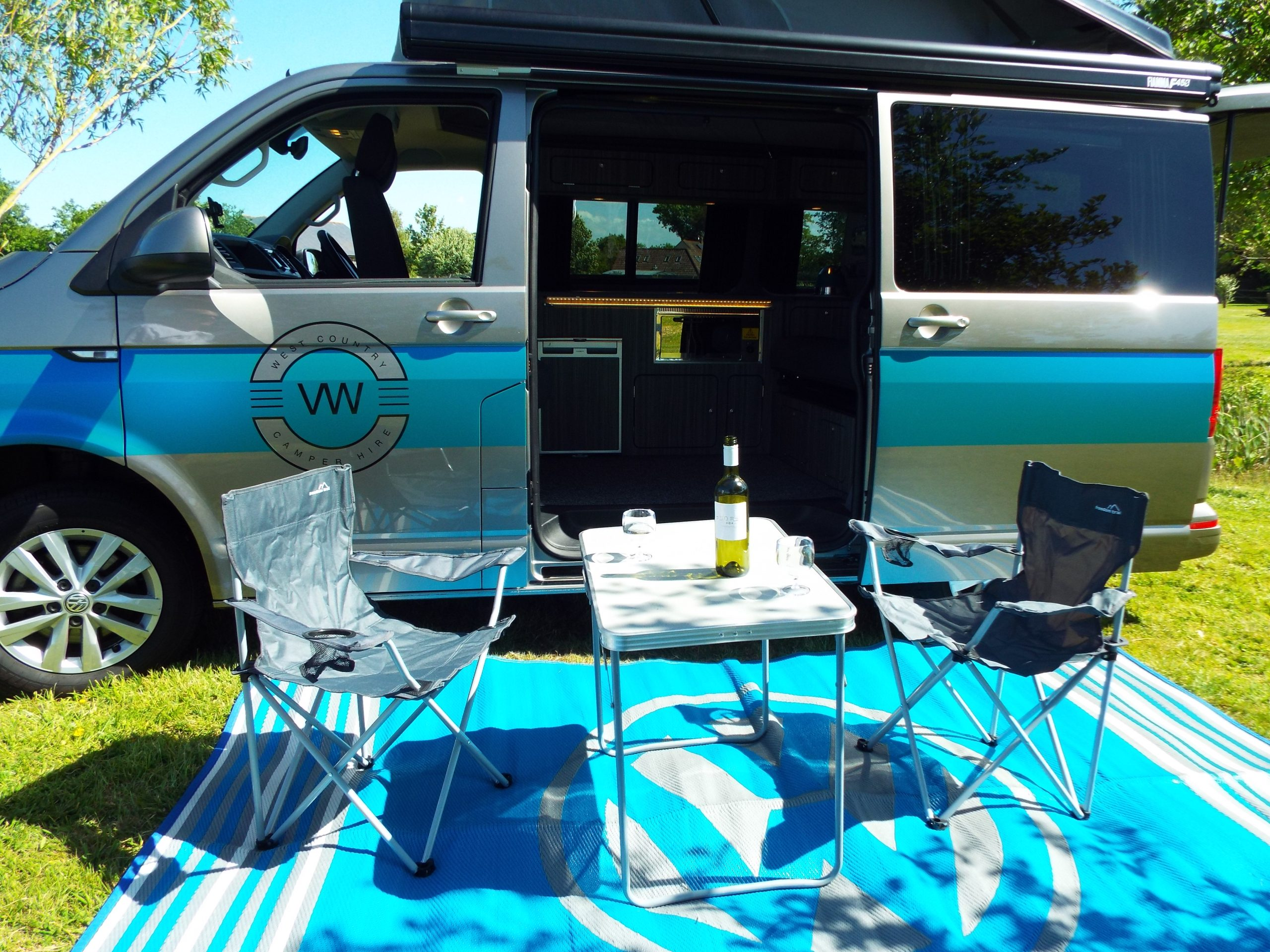 Camping in a campervan